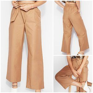 Express High Waisted Sash Tie Culottes Paperbag